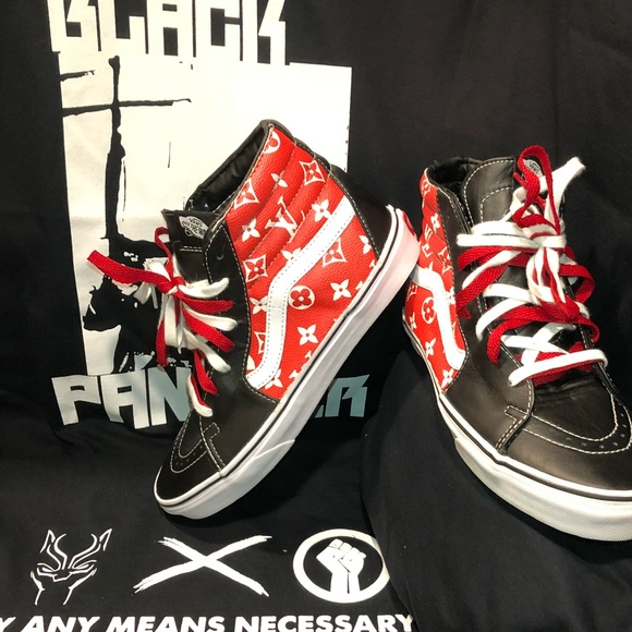 6846fdd9b7f38b Custom Supreme x Louis Vuitton Sk8-hi Vans. Listing Price   150. Your Offer
